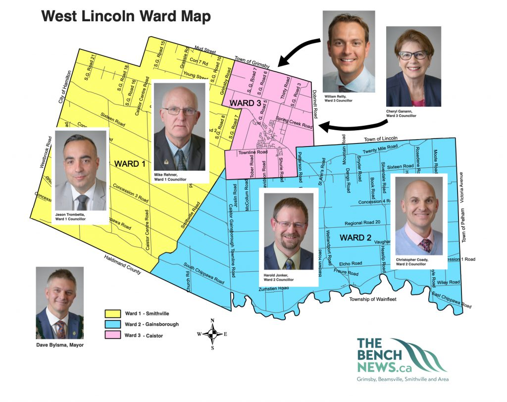 West Lincoln Ward map and councillors and mayor